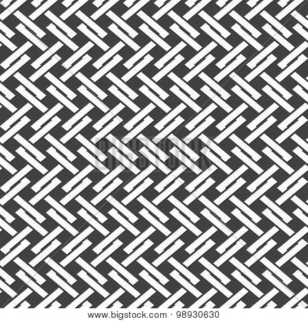 Seamless pattern of intersecting polygonal line