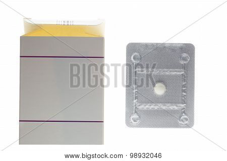 Oral contraceptive pill blister box