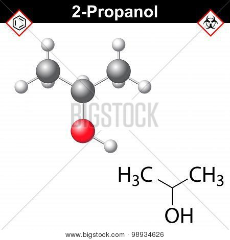 Isopropanol Structural Model