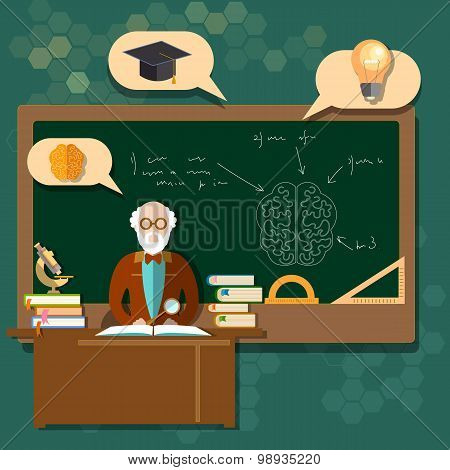 Education Professor Teacher Students School Boards Classroom Back To School College Research