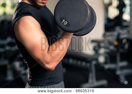 Working on biceps