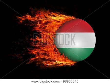 Flag With A Trail Of Fire - Hungary