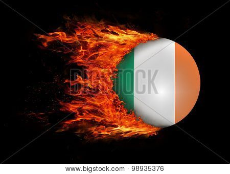 Flag With A Trail Of Fire - Ireland