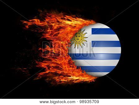 Flag With A Trail Of Fire - Uruguay