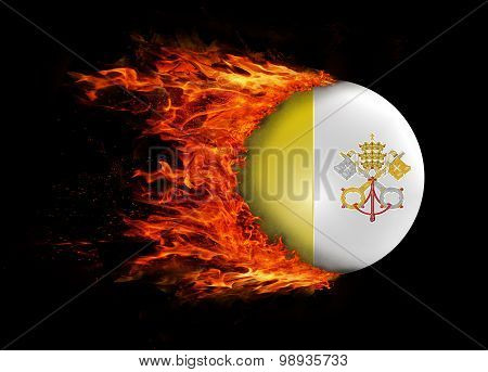 Flag With A Trail Of Fire - Vatican City