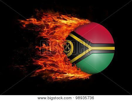 Flag With A Trail Of Fire - Vanuatu