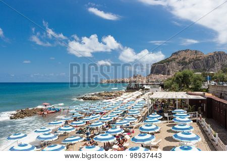 Beach Of Cefalu