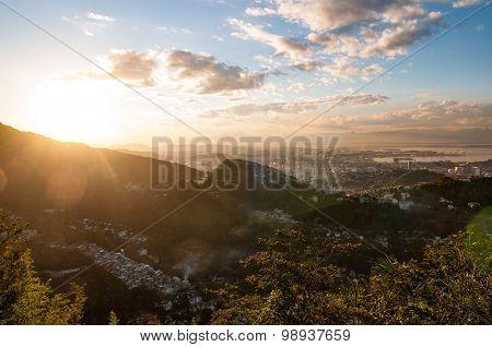 Rio de Janeiro sunset light