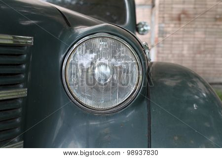 Headlight retro car