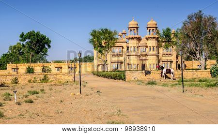 External View Of a Palace Of Jaisalmer, Rajasthan,