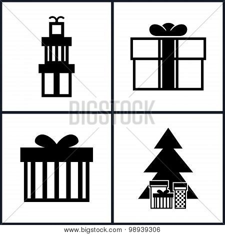 Set Of Holiday Icons , Christmas