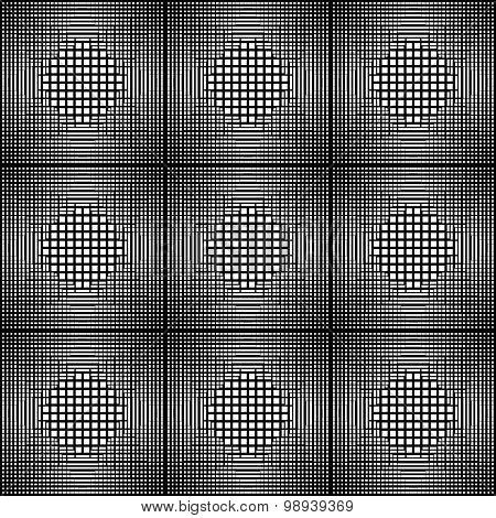 Design Seamless Monochrome Square Geometric Pattern