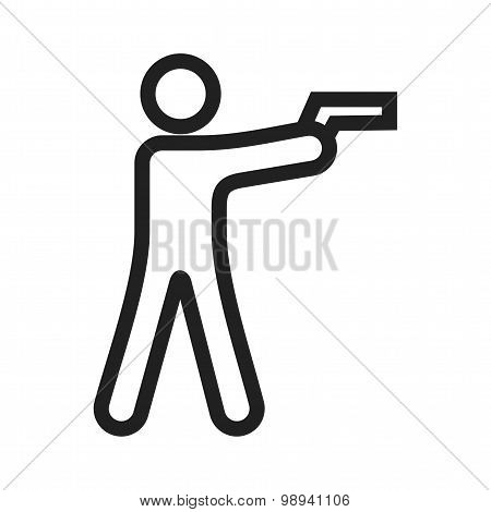Shooting in standing position
