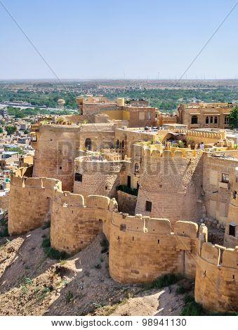 Birds Eye View Of Jaisalmer City From Golden Fort Of Jaisalmer,