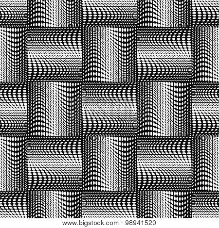 Design Seamless Monochrome Dots Background