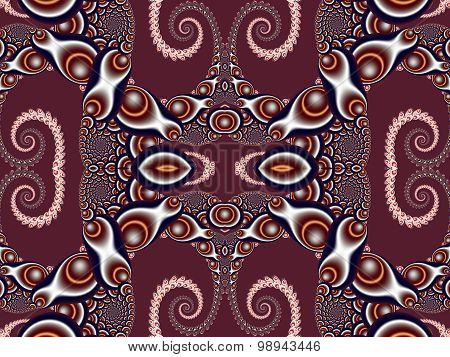 Beautiful Background With Spiral Pattern. Vinous And Gray Palette. Artwork For Creative Design