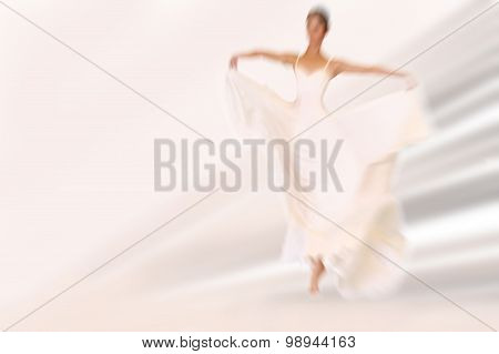 Abstract Background - Fashion Model On Catwalk
