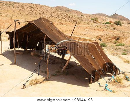 Tent In The Sahara Desert, Tunisia