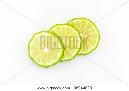 Slices Kaffir Lime (bergamot).