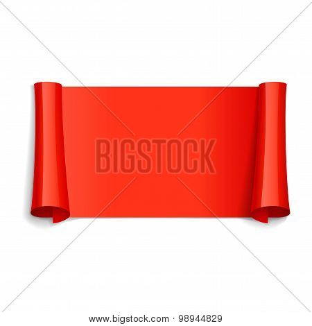 Red Glossy Vector Ribbon