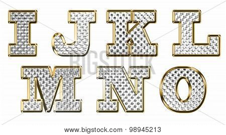 English Alphabet Gold Vector Illustration