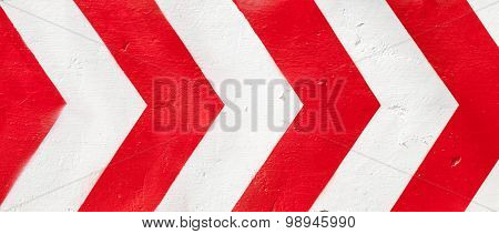 Red And White Grunge Warning Stripes Background