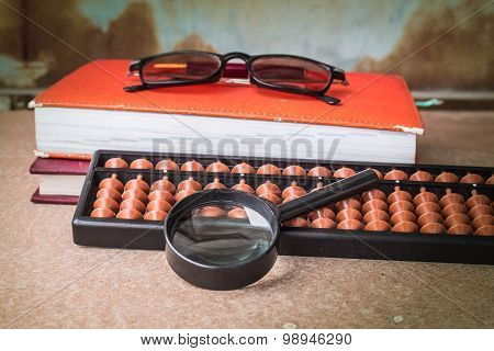 Magnifying Glass And Working Equipment