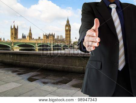 Handshake In London City