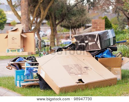 The world of plenty and the annual hard rubbish collection, cardboard box