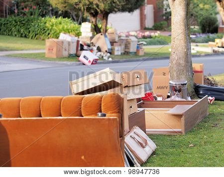 The world of plenty and the annual hard rubbish collection Sofa