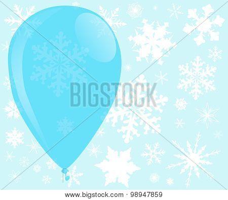 Blue Christmas Balloon
