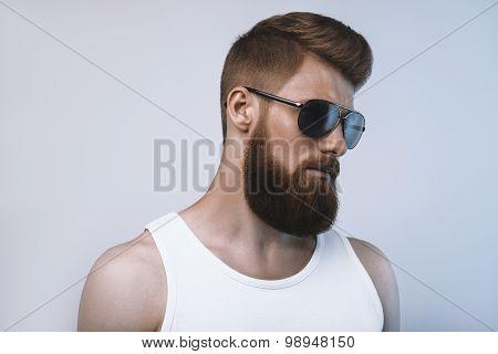 Bearded Man Wearing Sunglasses