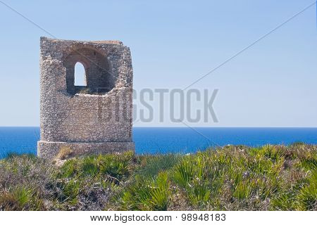 Ancient Guard Tower On The Coast