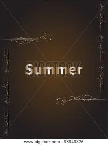 Elements For Summer Calligraphic Designs. Vintage Ornaments. All For Summer Holidays