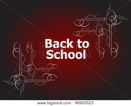 Back To School Calligraphic Designs, Retro Style Elements, Typographic And Education Concept