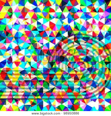 Multicolor abstract bright background with triangles. Elements for design.