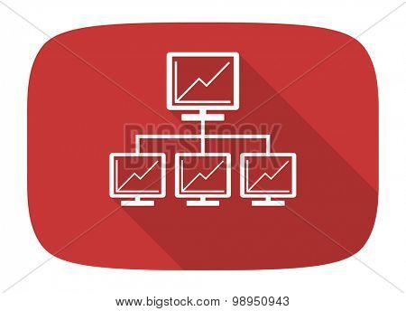 network flat design modern icon with long shadow for web and mobile app