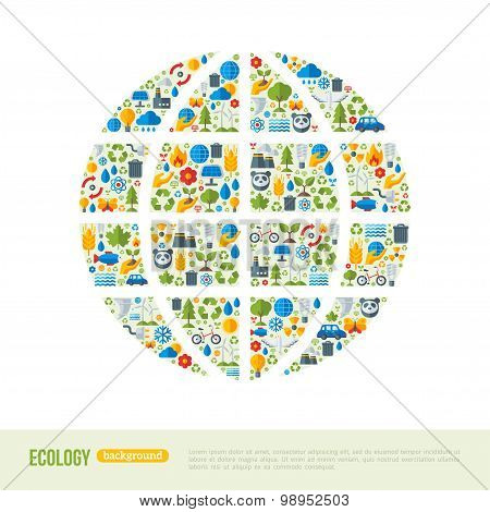 Eco Friendly, green energy concept, vector illustration.