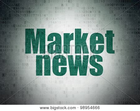 News concept: Market News on Digital Paper background