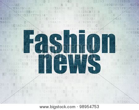 News concept: Fashion News on Digital Paper background