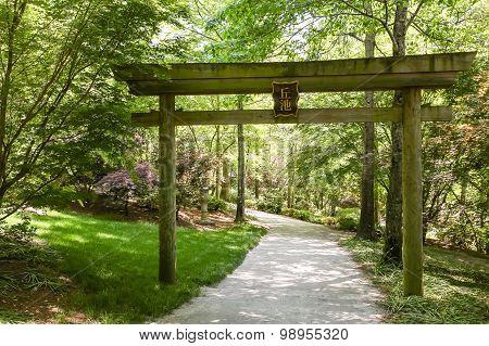 Emtramce To Japanese Garden