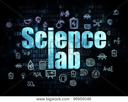 Science concept: Science Lab on Digital background