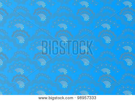 Attractive seamless pattern  background on blue.