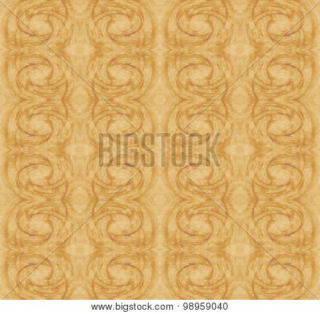 Seamless spiral pattern brown