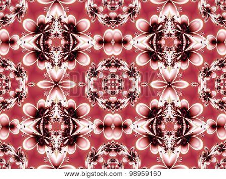 Flower Pattern In Fractal Design.