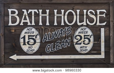 Western Bathhouse Sign