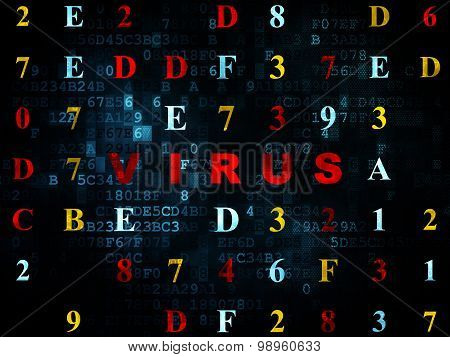 Safety concept: Virus on Digital background
