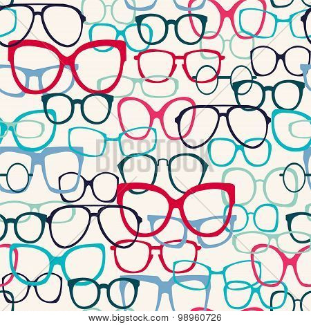Pattern Of Sunglasses Silhouettes