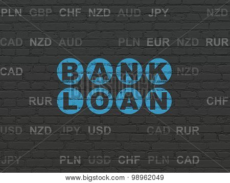 Banking concept: Bank Loan on wall background