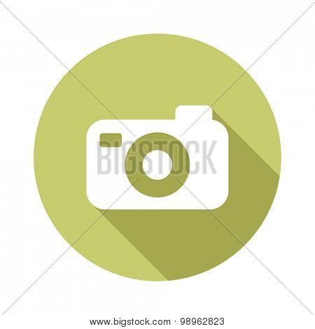 Photo camera flat vector icon